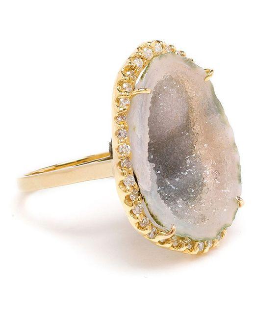 Kimberly Mcdonald   Green 18k Yellow Gold Diamond & Geode Ring   Lyst