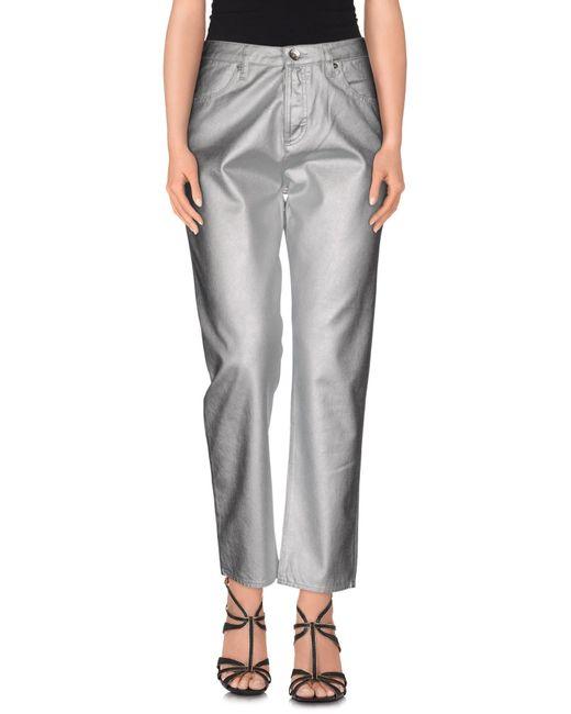 Love Moschino | Gray Denim Trousers | Lyst