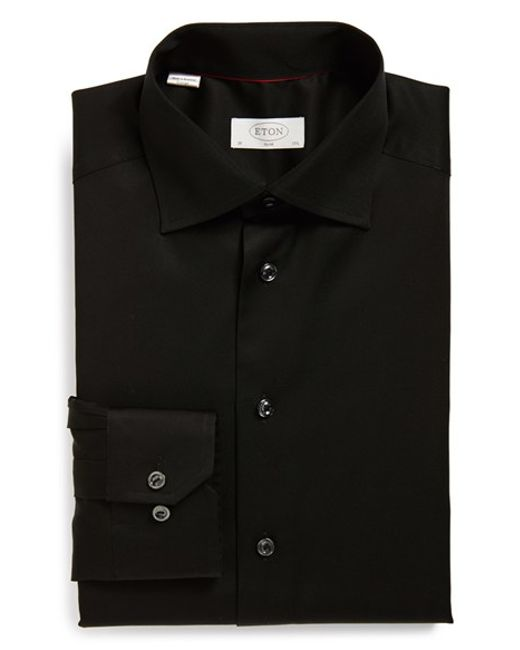 Eton of Sweden | Black Slim Fit Dress Shirt for Men | Lyst