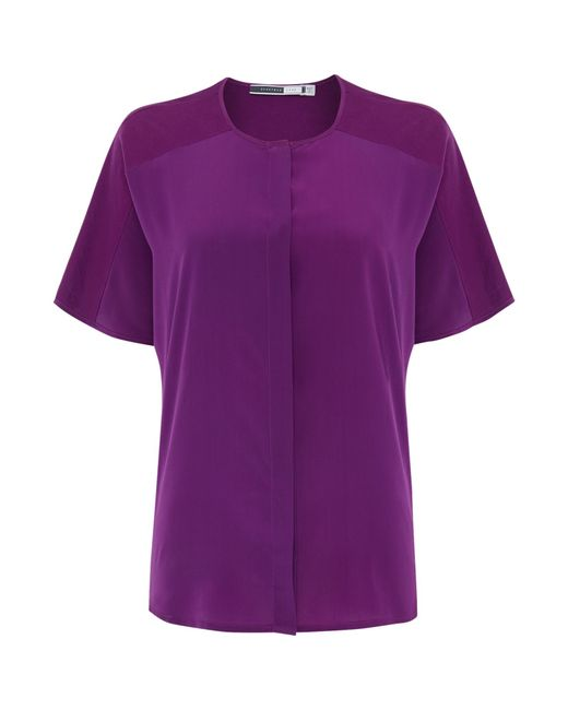 Sportmax Code | Purple Fatuo Silk Short Sleeve Top | Lyst