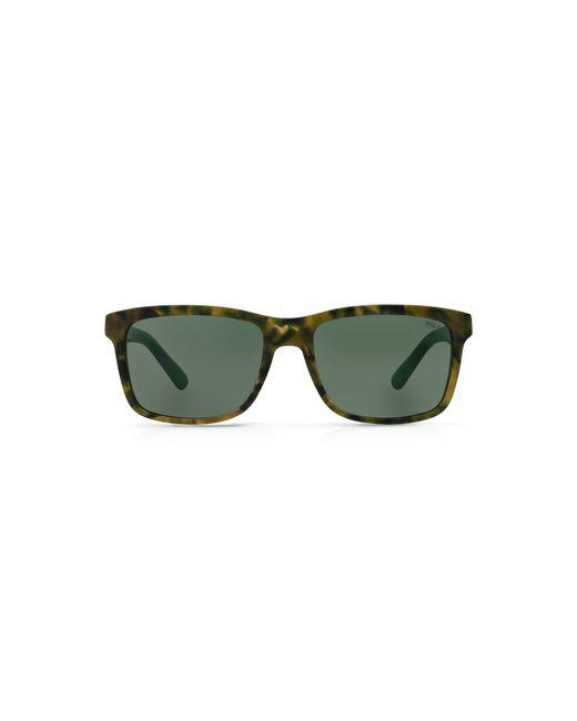 Polo Ralph Lauren | Brown Pony Square Sunglasses for Men | Lyst