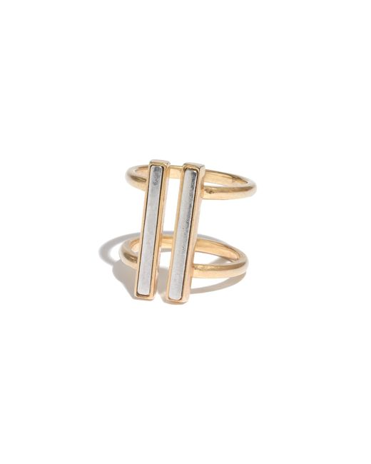 Madewell | Metallic Doubletime Ring | Lyst