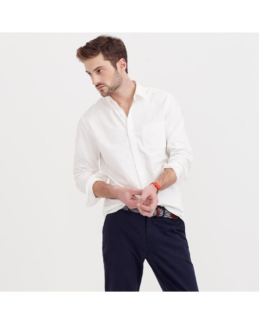 J.Crew | Vintage Oxford Shirt In White for Men | Lyst