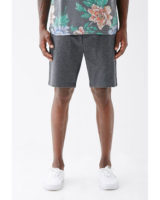 Forever 21 | Green Speckled Zip-pocket Sweatshorts for Men | Lyst