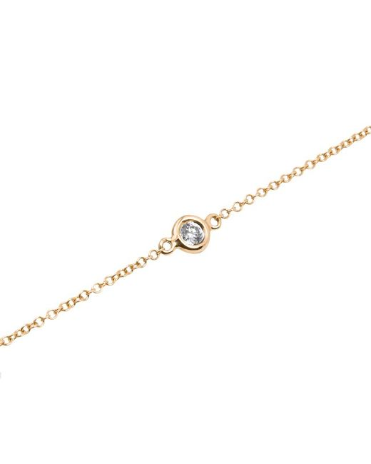 Anne Sisteron | Metallic 14kt Yellow Gold Diamond Solitaire Bracelet | Lyst