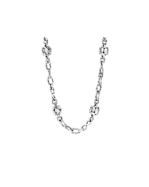 John Hardy | Metallic Kali Sterling Silver Square Station Sautoir Necklace, 18"