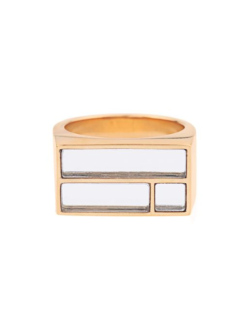 Aurelie Bidermann | Metallic Bianca Yellow Gold-plated Mirror Ring | Lyst