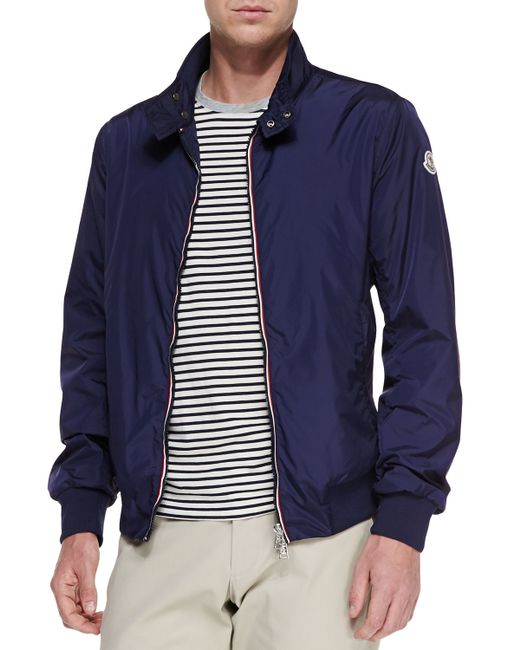 Moncler | Blue Padded Jacket for Men | Lyst
