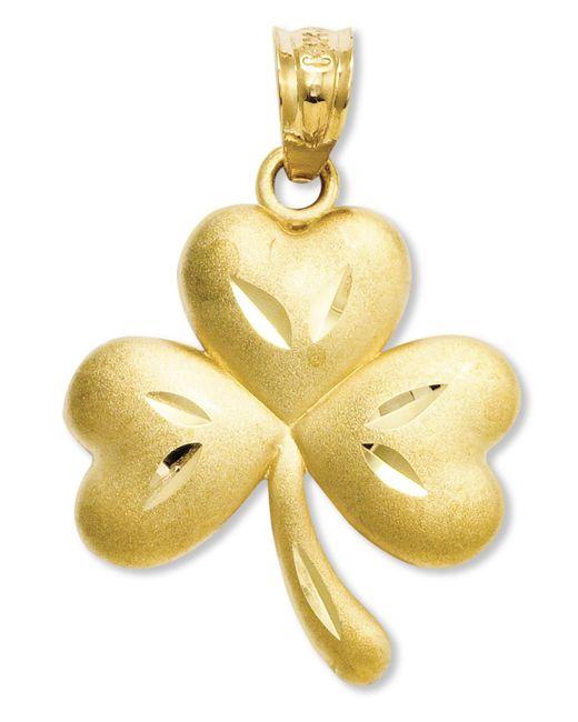 Macy's | Metallic 14k Gold Charm, Shamrock Charm | Lyst