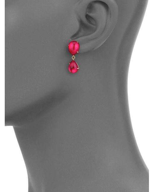 Pomellato | Pink Rouge Passion Mirrored Teardrop Earrings | Lyst
