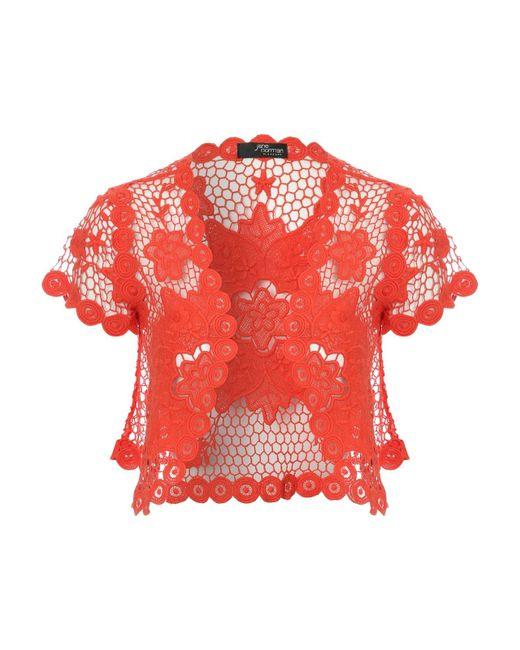 Jane Norman | Pink Flower Crochet Shrug | Lyst