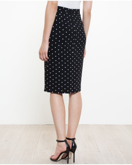 givenchy cross print pencil skirt silk spandex