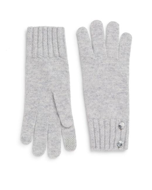 Saks Fifth Avenue | Metallic Tech Glitzy Wool-blend Gloves | Lyst