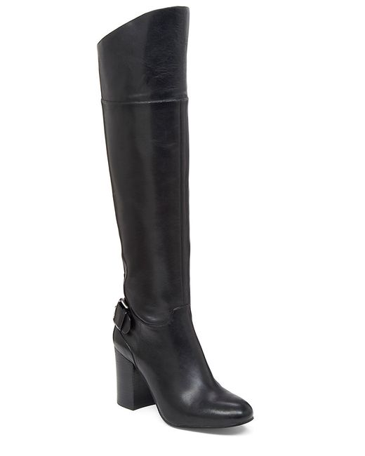 Vince Camuto | Black Sidney Leather Riding Boots | Lyst