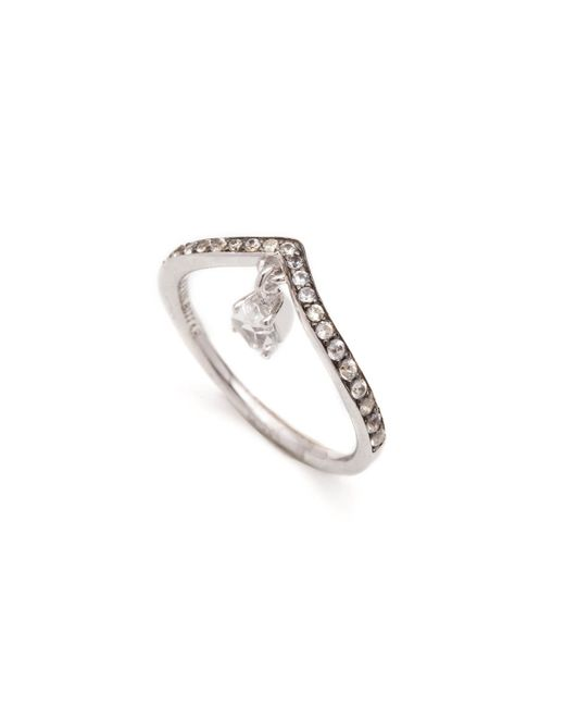 Alexis Bittar | Metallic Clear Quartz Chevron Dangle Ring You Might Also Like | Lyst