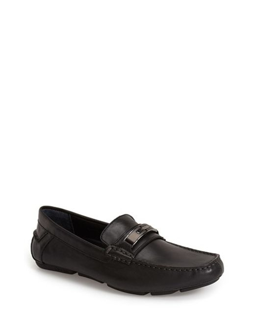 Calvin Klein | Black 'mchale' Driving Shoes for Men | Lyst