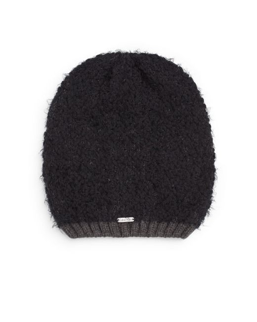 Calvin Klein | Black Two-tone Knit Beanie | Lyst