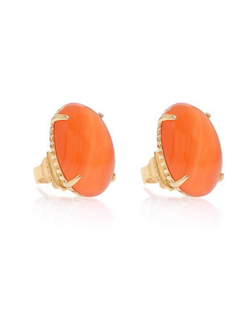 Elizabeth and James | Orange Carnelian Stud Earrings | Lyst