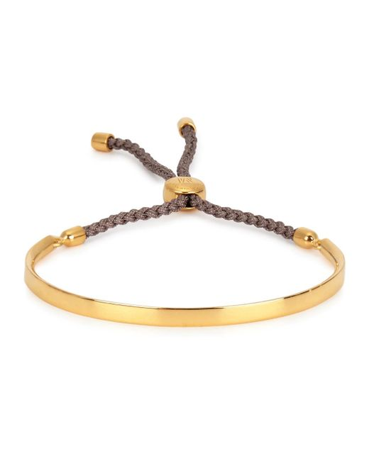 Monica Vinader | Pink Fiji 18ct Gold-plated Friendship Bracelet | Lyst