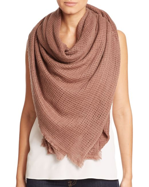 Bajra | Brown Felted Wool Net-weave Square Scarf | Lyst
