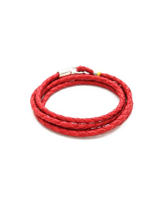 Miansai | Red Trice Woven Leather Wrap Bracelet for Men | Lyst