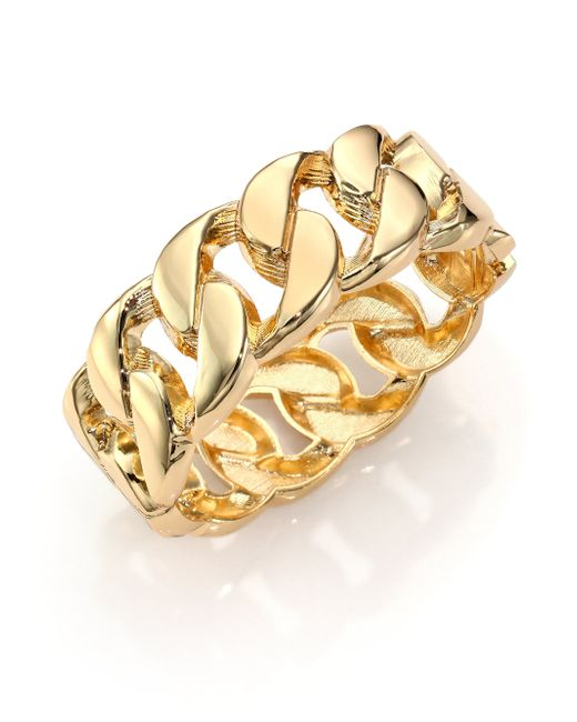 Kenneth Jay Lane | Metallic Curb Chain Bangle Bracelet | Lyst
