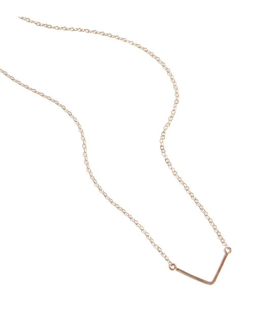Melissa Joy Manning | Pink Gold V Pendant Necklace | Lyst