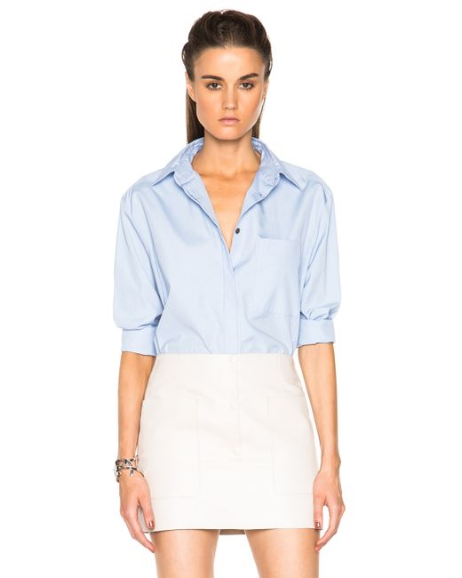 Acne | Blue Addle Pop Button Down | Lyst