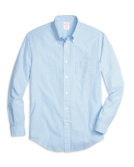 Brooks Brothers | Blue Madison Fit Seersucker Stripe Sport Shirt for Men | Lyst