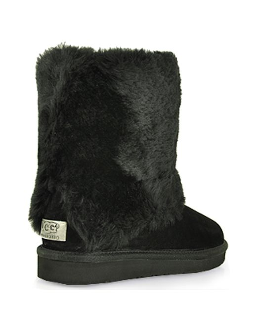 ugg shearling cuff boot in black lyst