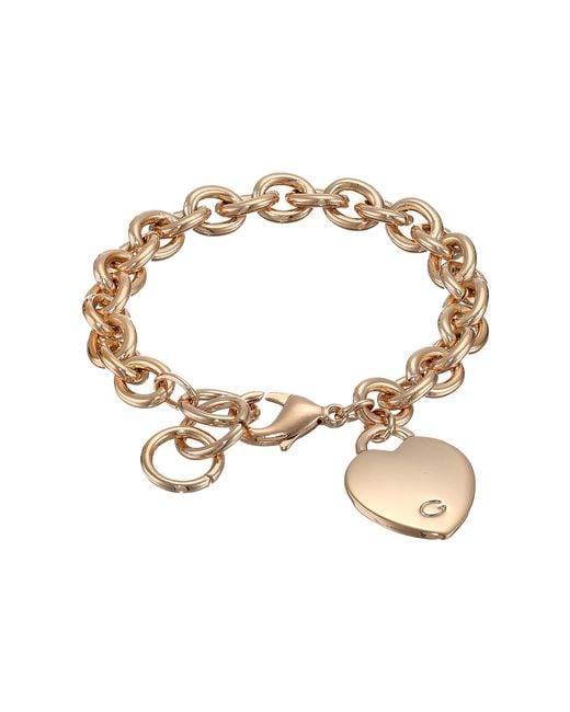 Guess | Metallic Heart Bracelet | Lyst