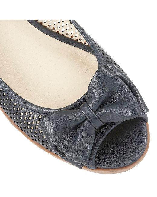 Lotus | Blue Willana Peep Toe Flat Shoes | Lyst
