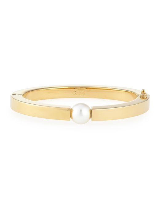 Chloé | Metallic Darcy Simulated Pearl Bracelet | Lyst