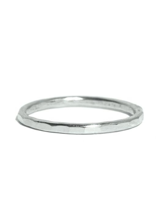 Melissa Joy Manning | Metallic Hammered Texture 1.5mm Ring | Lyst