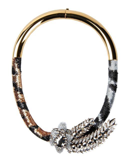 Shourouk | Black Necklace | Lyst