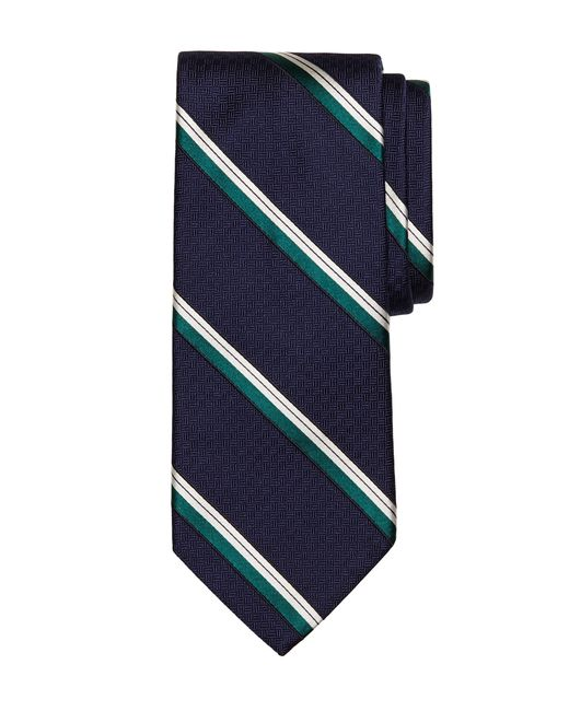 Brooks Brothers | Blue Parquet Stripe Tie for Men | Lyst