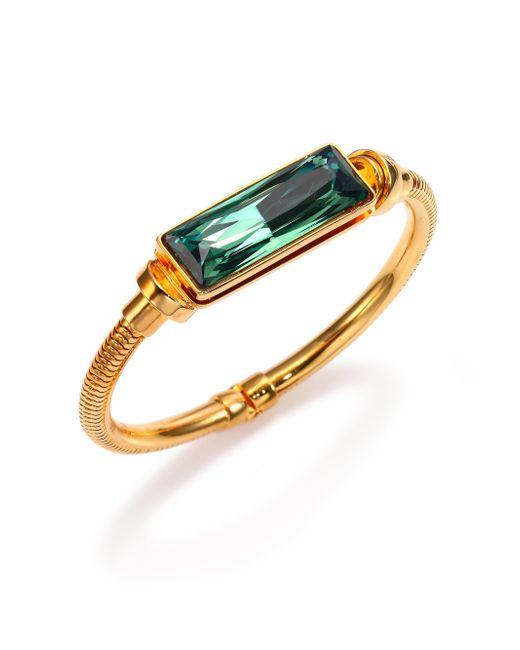 House of Lavande | Green Kemala Crystal Bangle Bracelet | Lyst