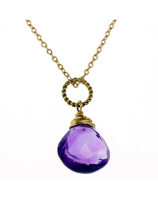 rafia february birthstone necklace in purple lyst