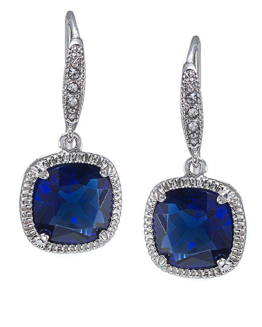 Carolee | Metallic Uptown Recolor Blue Cushion Drop Earrings | Lyst