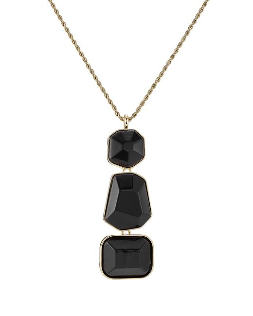 Kenneth Jay Lane | Black And Gold-tone Statement Necklace | Lyst