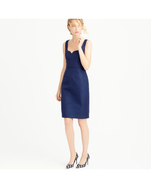 J.Crew | Blue Mae Dress In Classic Faille | Lyst