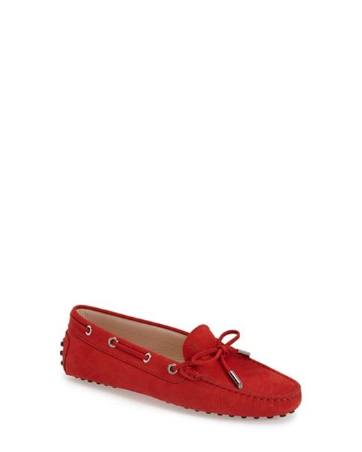 Tod's | Red 'gommini' Moccasin | Lyst