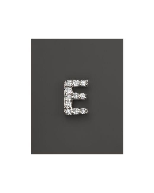 KC Designs   Diamond Initial Stud Earring In 14k White Gold   Lyst