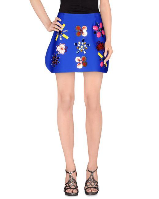 leitmotiv mini skirt in blue bright blue save 73 lyst