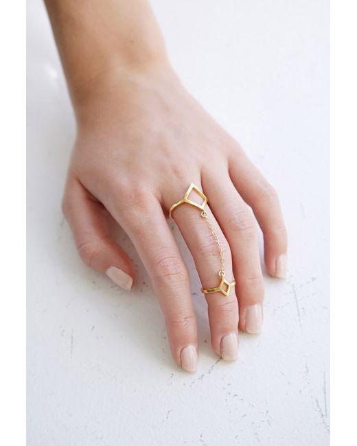 Forever 21 | Metallic Katie Dean Double Diamond Ring | Lyst