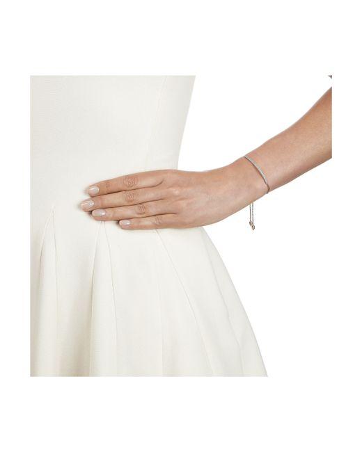Monica Vinader   White Stellar Diamond Mini Bar Bracelet   Lyst