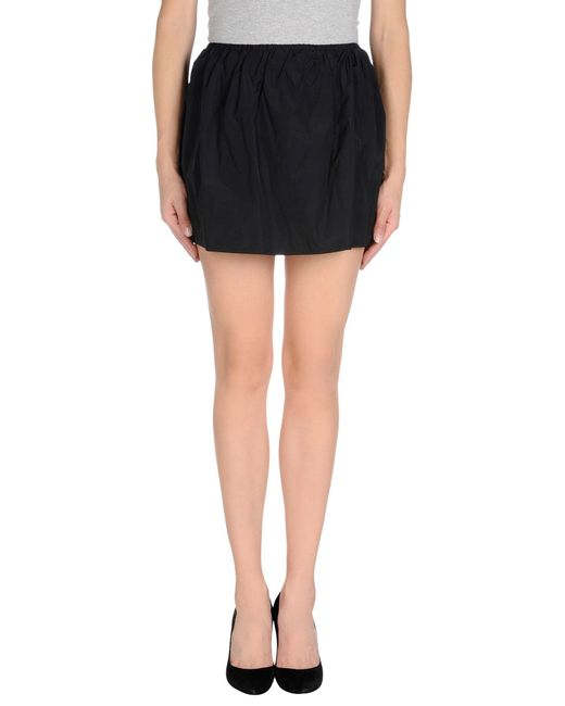 Pinko | Black Mini Skirt | Lyst