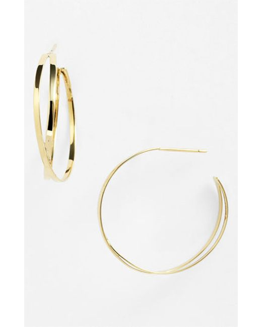 Lana Jewelry | Yellow 'white Night' Hoop Earrings | Lyst