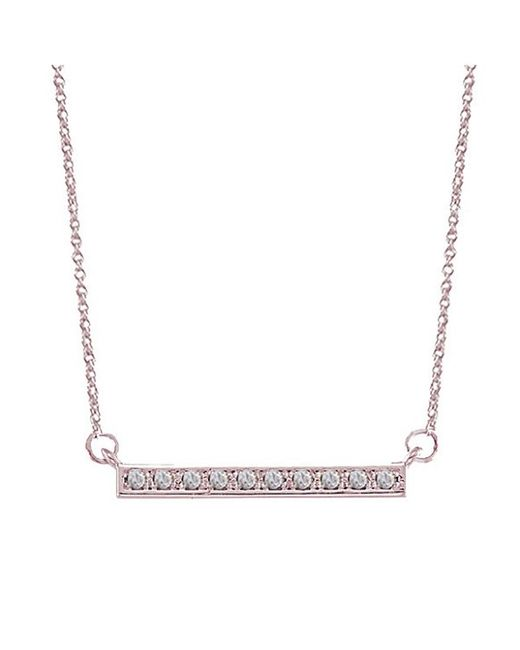 Adornia | Pink Diamond And Rose Gold Vermeil Barra Bar Necklace | Lyst