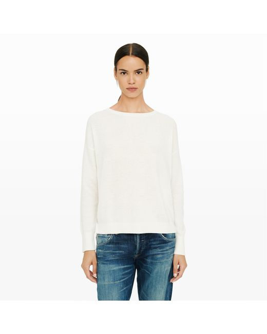 Club Monaco | Natural Dracoy Woven Back Sweater | Lyst